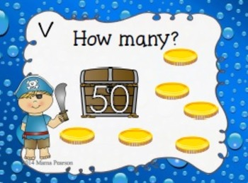 Pirate Counting On Task Cards
