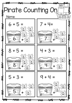 Pirate Counting On Worksheet