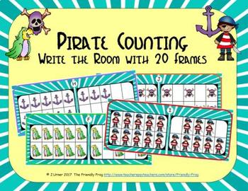 Pirate Counting with 20 Frames {Subitizing}