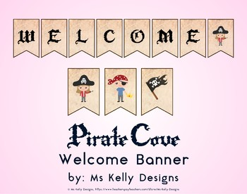 Pirate Cove Welcome Banner for Classroom