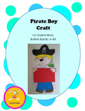 Pirate Craft - Boy Decorative Display for Bulletin Boards, Student Work, or Art