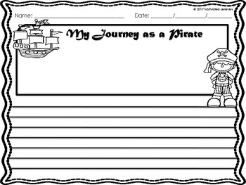 Pirate Craft and Writing | Pirate Day