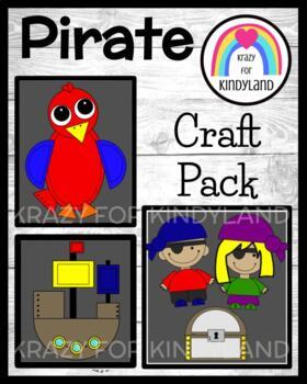 Pirate Craft and Writing Value Pack: Pirates, Ship, Treasu