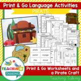 Pirate Speech and Language Activities