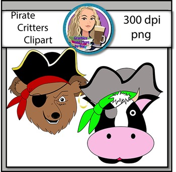 Pirate Critters Clipart
