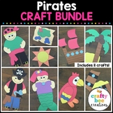 Pirate Crafts Bundle | Pirate Activities | Ship | Parrot | Treasure Map | Chest