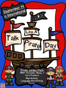 Pirate Day: 2nd-4th Math & LangArts (Perimeter, Money, Pro