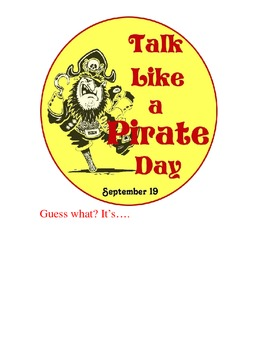 Pirate Day Common Core Ratios and Proportions Activity
