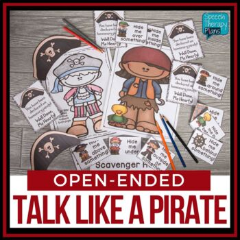 Pirate Day Games for Speech Therapy Freebie