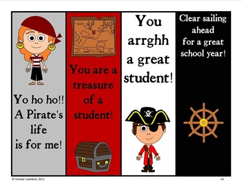Pirate Decor Editable