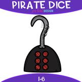 Pirate Dice Clip Art: Pirate Hook Dice 1-6 {jen hart Clip Art}