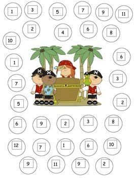 Pirate Dice Game: Numbers and Number Recognition