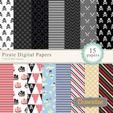 Pirate Digital Papers - Lovely Clementine
