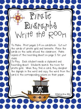 Pirate Digraph Write the Room