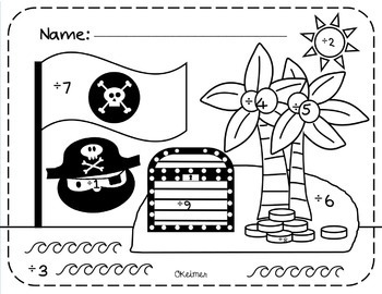 Division Fluency Reinforcement Activities {Pirate Theme}