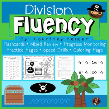 Pirate Division Fluency Reinforcement {Flashcards & Worksheets}