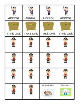 Pirate Dolch Sight Word Game - Common Core Aligned