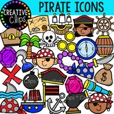 Pirate Doodle Icons  {Pirate Clipart}