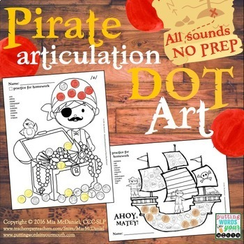 Articulation Dot Art Pirates {all sounds and NO prep!}