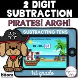 2 Digit Subtraction BOOM Cards - Pirates