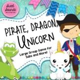 Pirate Dragon Unicorn Freeze Game