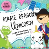 Pirate Dragon Unicorn Freeze - Smart Board Game and Printables