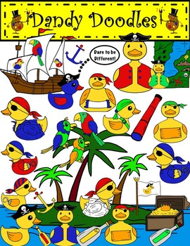 Pirate Duckies Clip Art by Dandy Doodles