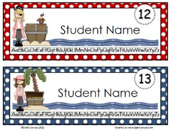Pirate Editable Name Tags