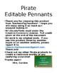 Pirate Editable Pennants