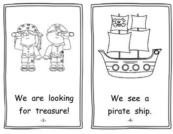Pirates Emergent Reader - Treasure Hunt - Student and Teacher Version