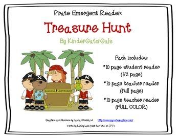 Pirates Emergent Reader - Student and Teacher Version - SUMMER DOLLAR DEAL
