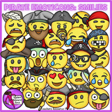 Pirate Emoji Clip Art: Pirate Smiley Faces Emoticons Clipart