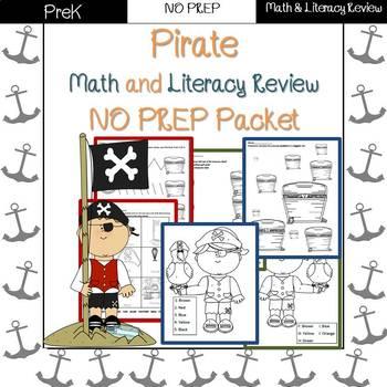 Pirate End of Year/Summer Review: PreK-Preschool NO PREP (