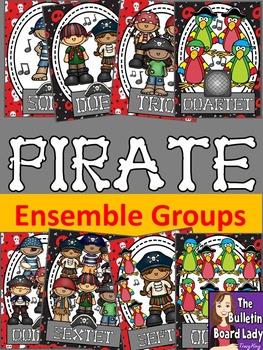 Pirate Ensembles Posters- Solo, Duet, Trio, etc..