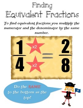 Pirate Equivalent Fractions