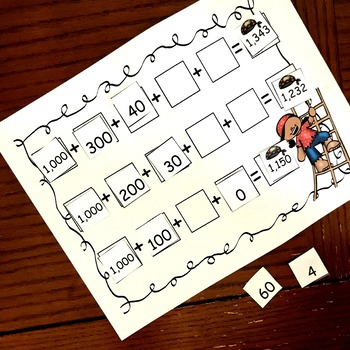 Pirate Expanded Form Game - 2.NBT.A.1