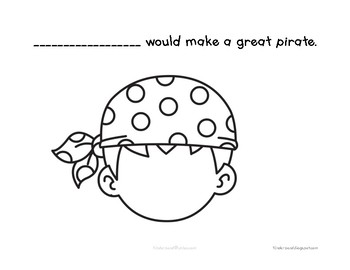 Pirate Faces Class book