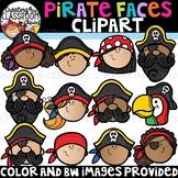 Pirate Faces Clipart {Pirate Clipart}