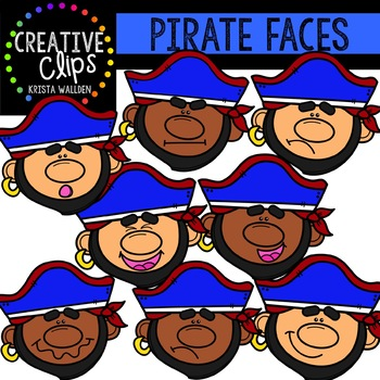 Pirate Faces: Pirate Clipart {Creative Clips Clipart}
