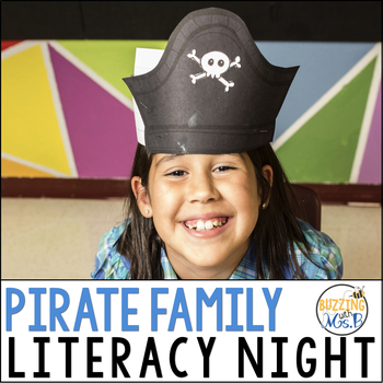 Pirate Family Literacy Night, editable!