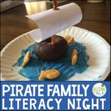 Pirate Family Literacy Night Editable