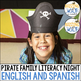 Pirate Family Literacy Night in English and Spanish - The Editable Bundle!
