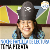 Pirate Family Literacy Night in Spanish Editable