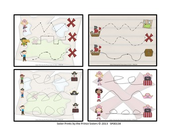 Pirate Fine Motor Card Set