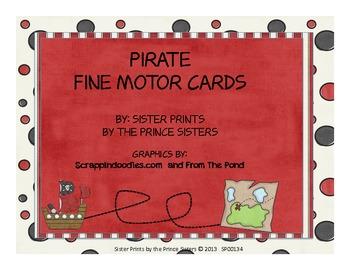 Pirate Fine Motor Card Set
