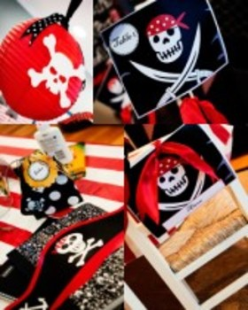 Classroom Decor Pirate Flag Table Signs