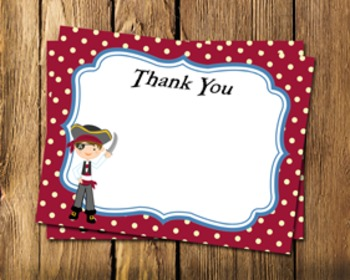 Pirate Flat Thank You Note Cards