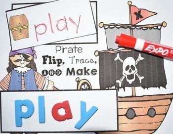 Pirate Flip, Trace, & Make {Sight Word Center}