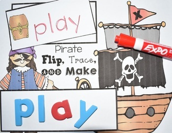 Sight Word Center {Pirate Flip, Trace, & Make}