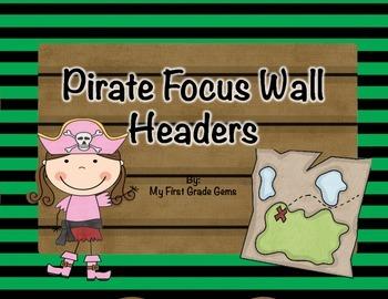 Pirate Focus Wall Headers